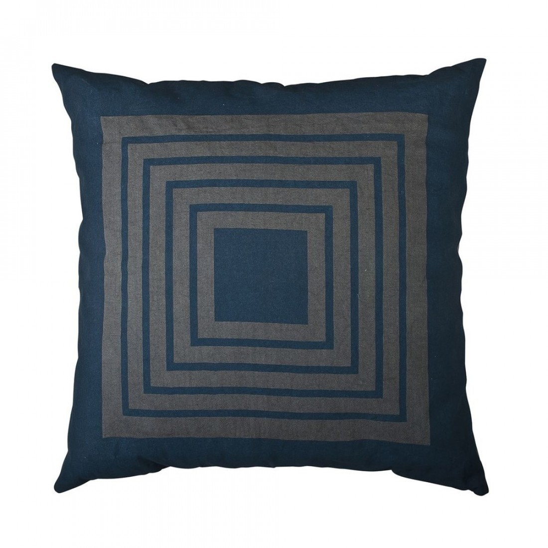 Broste kussenhoes Maze, blauw grijs, 50x50 cm