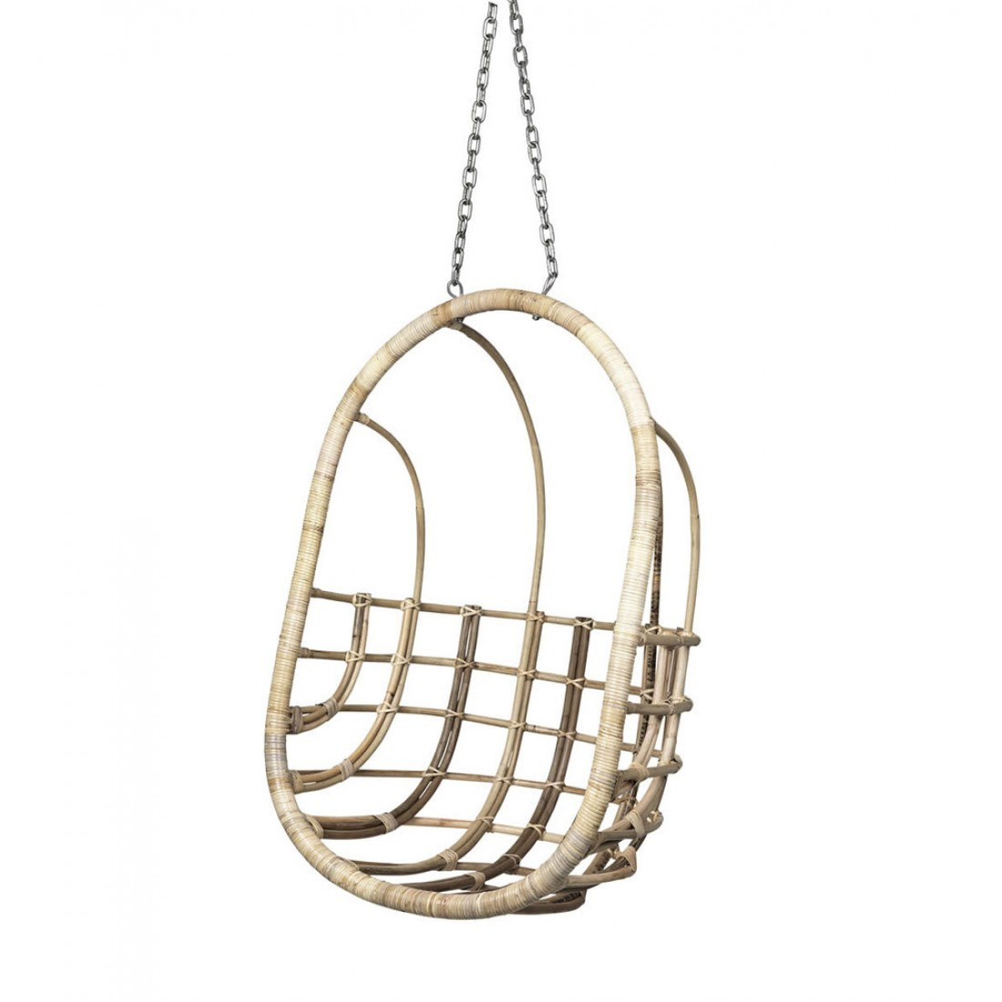 Broste hangstoel egg chair rotan for Hang stoel