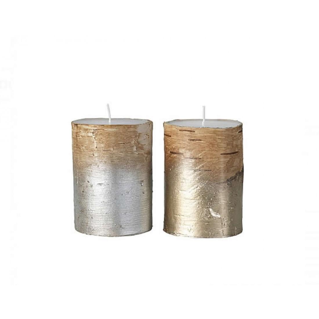 Hedendaags Broste set van twee kaarsen in goud/zilver XO-46
