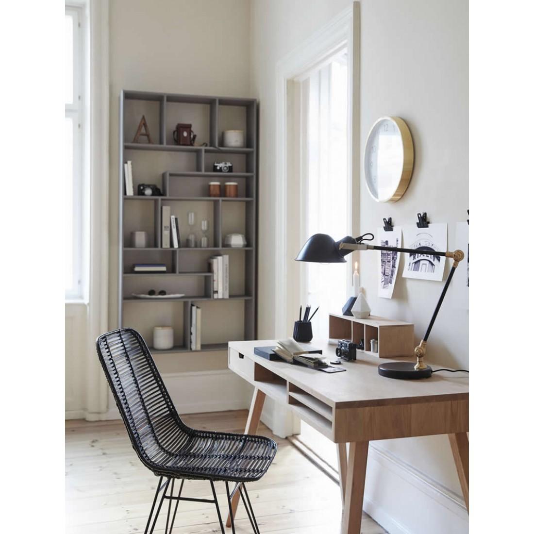 h bsch eiken buro met 3 vakken. Black Bedroom Furniture Sets. Home Design Ideas