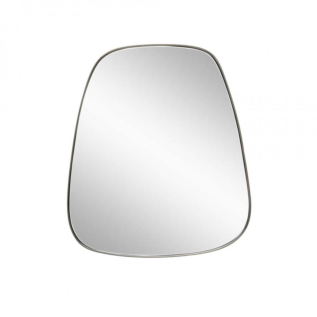 Hubsch hangende spiegel met metalen rand 48cm - Metalen spiegel ...