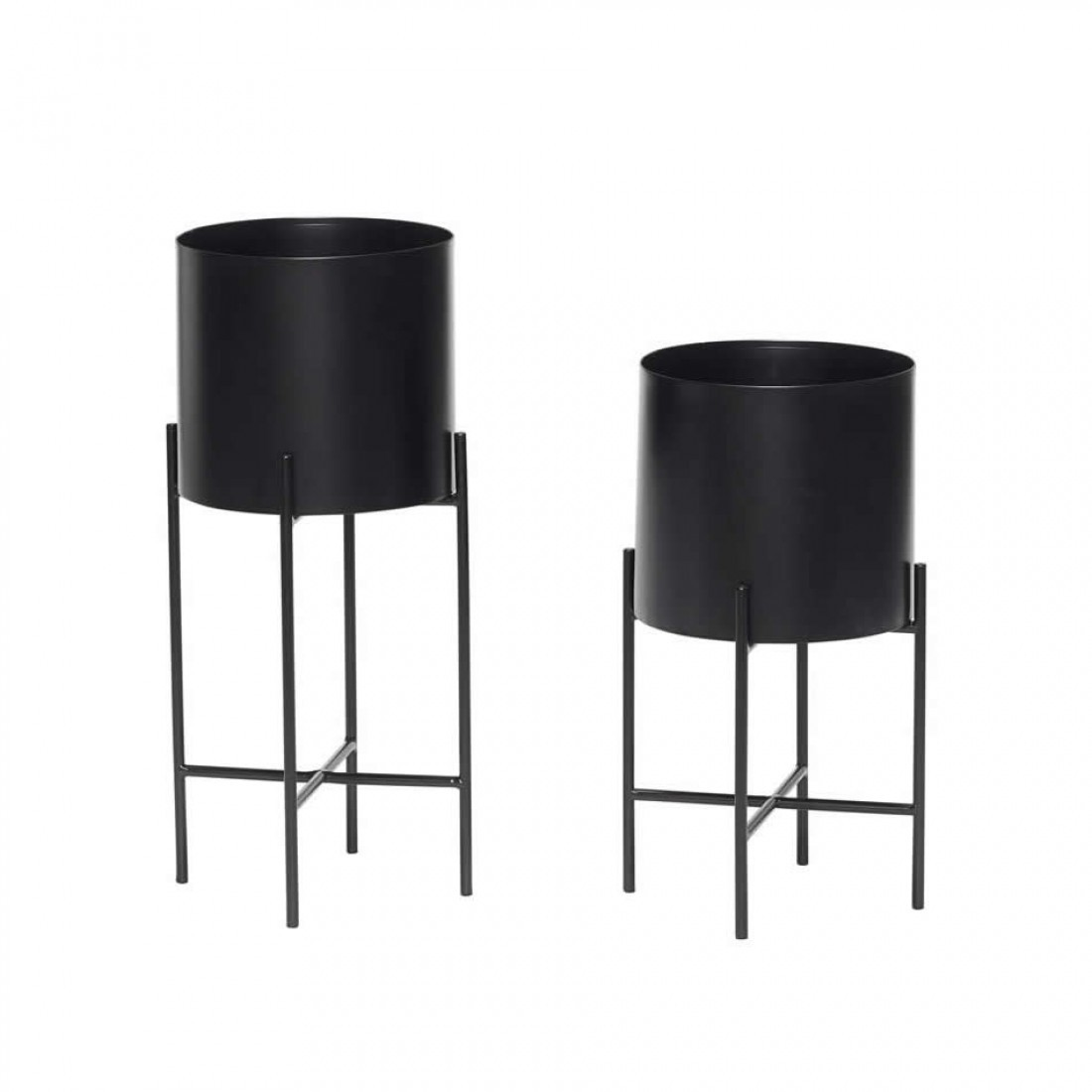 hubsch metalen plantenstandaard set van 2 25cm. Black Bedroom Furniture Sets. Home Design Ideas