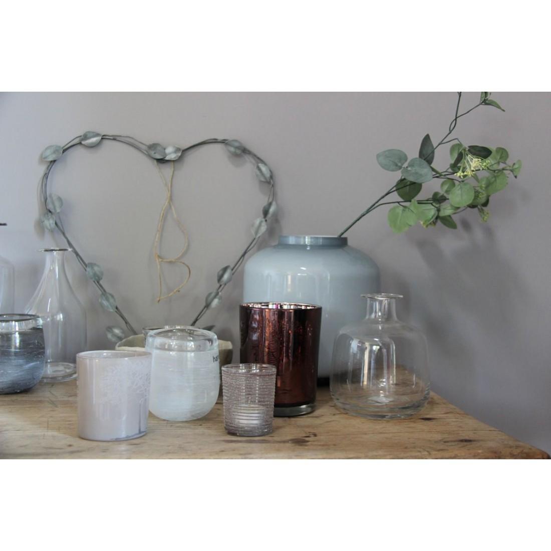 Broste deco hart leaf hangend donker metaal - Deco romantische ouderlijke kamer ...