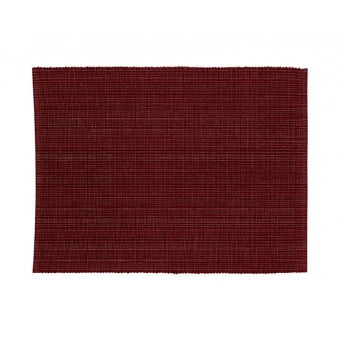 Scantex ribbed katoenen placemat in donkerrood