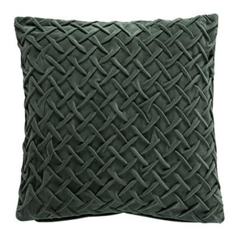 Scantex kussenhoes Savona van groen fluweel, 50x50