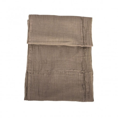 Dun tafelkleed van taupe katoen, 160x200cm