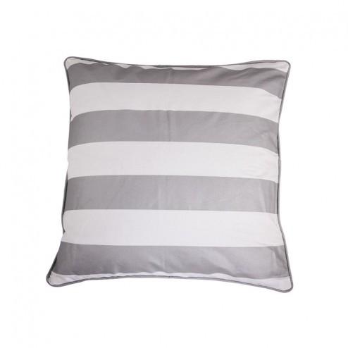 Kussenhoes Lora, witte en zilveren strepen, 50x50 cm