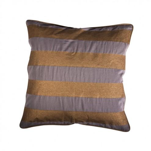 Kussenhoes Lora, lila/koper gestreept, 50x50 cm