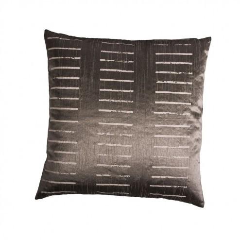 Kussenhoes Cut Stripe, metallic bruin/grijs gestreept, 50x50 cm