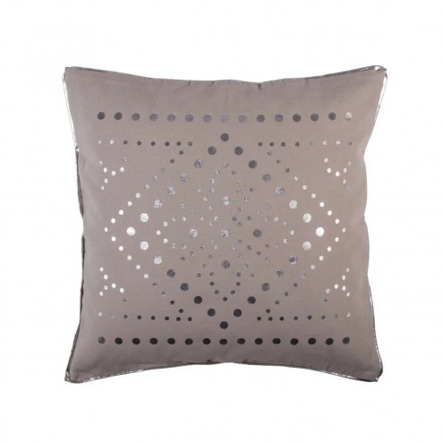 Broste kussenhoes New Chic, taupe zilver opdruk, 50x50 cm