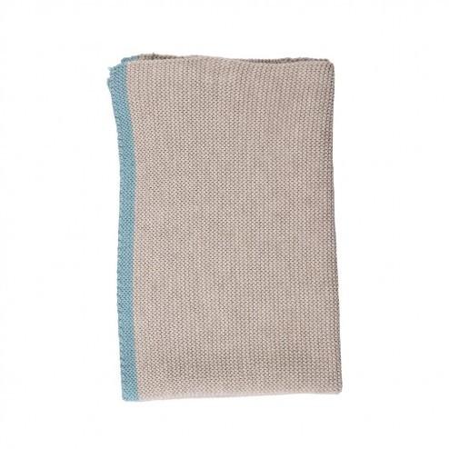 Keuken handdoek Knit, donkergrijs/turquoise