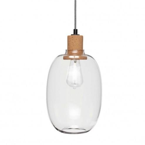Hübsch langwerpige glazen hanglamp, ø21cm