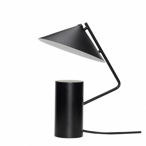 Hübsch Interior bureaulamp van zwart metaal, Ø20cm