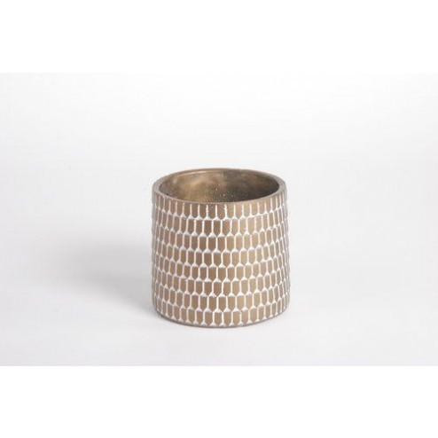 Bloempot Flounce metallic (middel: 15.5x14cm)