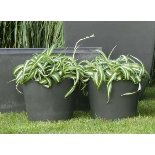 Eco bloempot Surprise, groen kunststof, 25cm-D&M-32