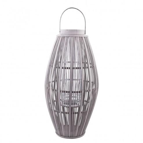 Broste lantaarn Aleta bamboe in grijs, 77.5cm