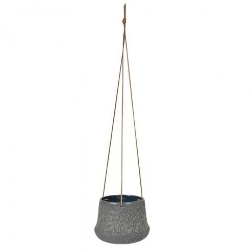Broste hangende bloempot Caroline, steengrijs, Ø16cm
