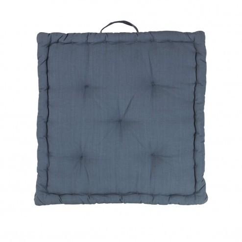 Broste zitkussen Ava in petrolblauw, 40x40cm
