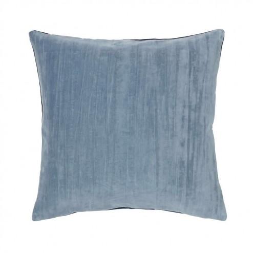 Broste kussenhoes Hjalte van katoen, 50x50cm, ijsblauw