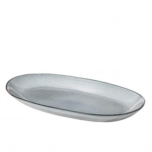 Broste Nordic Sea ovaal bord, medium (30cm)