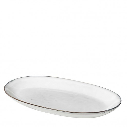 Broste Nordic Sand ovaal bord, medium (30cm)