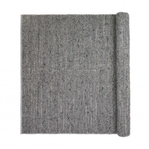 Broste vloerkleed Thomas, donkergrijze wol en viscose, 140x200cm