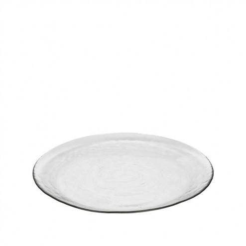 Broste dinerbord Hammered, glas, Ø27cm