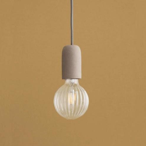 Broste hanglamp Gerd in beton met heldere LED lamp ø10cm
