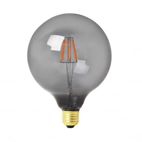 Broste Copenhagen LED lamp Globe van rookglas, ø12,5cm