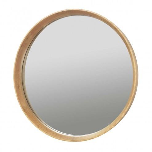 Broste Copenhagen houten spiegel 'Alva', Ø63cm