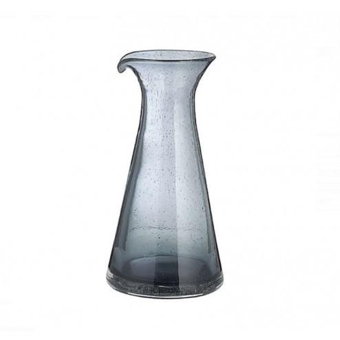 Broste Bubble grijze glazen karaf, 80cl