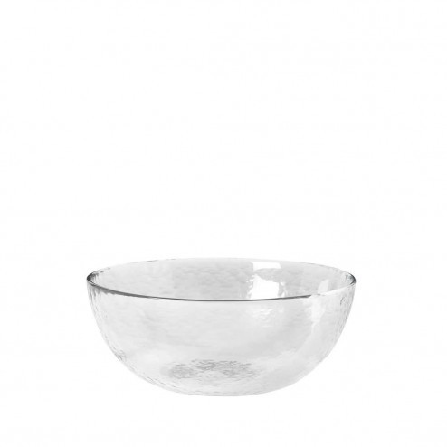 Broste kom Hammered, glas, Ø17cm