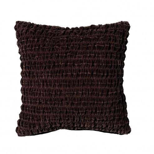 Broste kussenhoes Kroll in bruin, 50x50cm