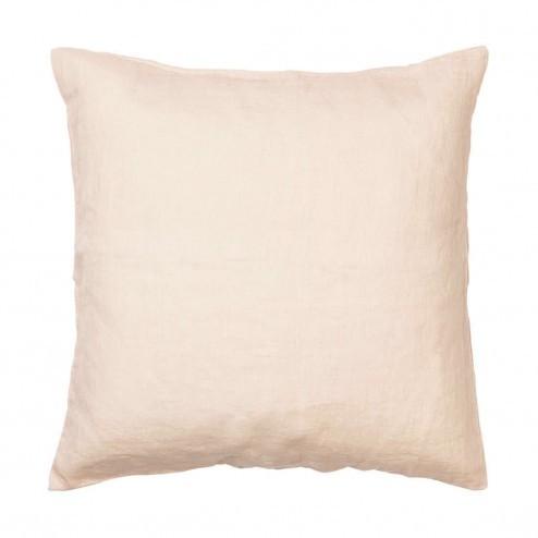 Broste kussenhoes Linen in creme van 100% linnen, 50x50cm