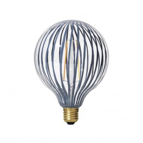 Broste LED lamp Stripe van glas, ø12,5cm