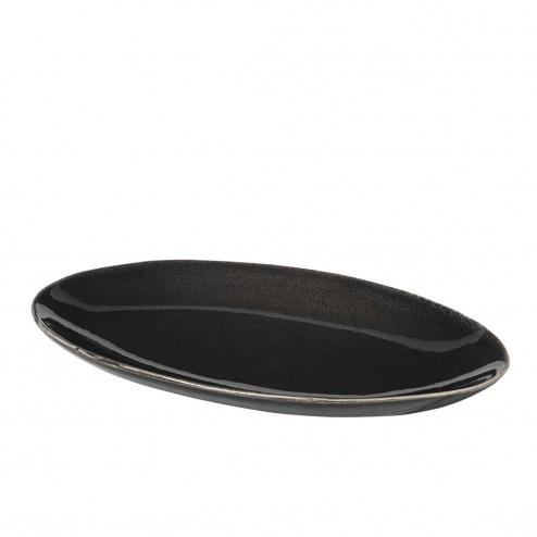 Broste Nordic Coal ovaal bord, klein (22cm)