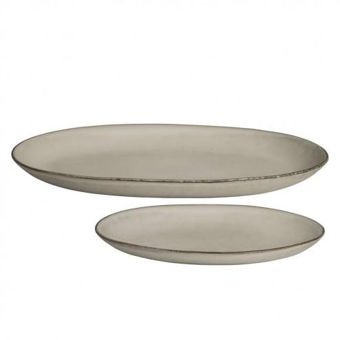 Broste Nordic Sand ovale borden (set van twee)