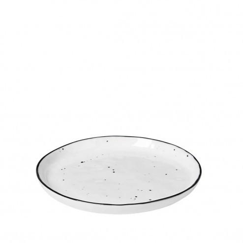 Broste Salt dessertbordje met stippen 14cm