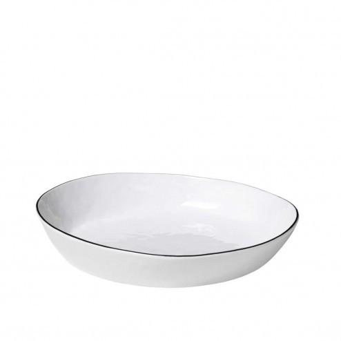 Broste Salt diep bord 24cm, porselein