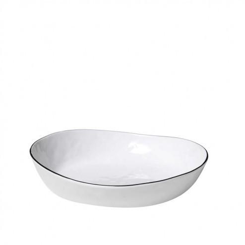 Broste Salt lage schaal 20cm, porselein