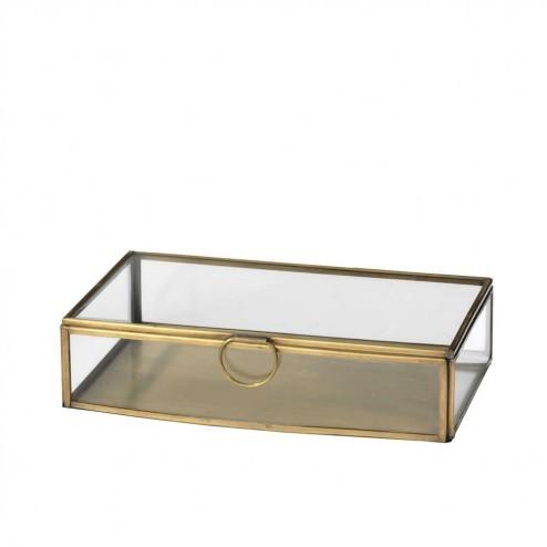 Broste Copenhagen glazen sieradendoos Janni, 21.5cm