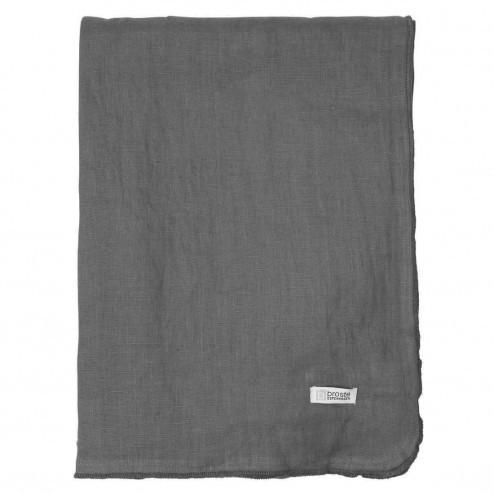 Broste tafelkleed Gracie van linnen, donkergrijs, 160x300cm