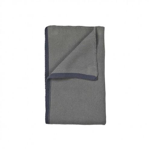 Broste keuken handdoek Knit, donkerblauw grijs