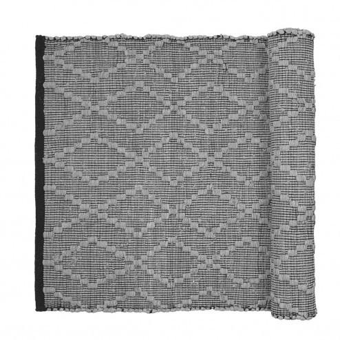 Broste vloerkleed Vilda, grijs katoen, 140x200cm