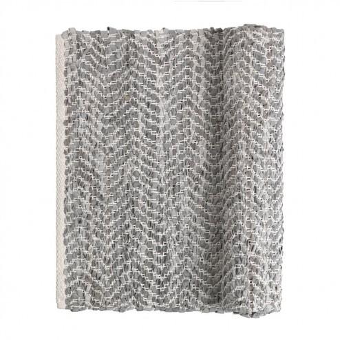 Broste vloerkleed Zigzag, lichtgrijs, 80x250cm