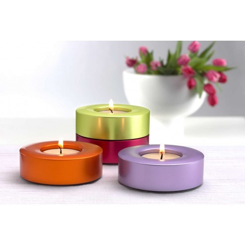 Candela waxinelicht houders, violet orange lime & pink-Carus-35