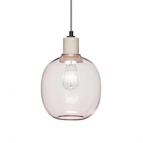 Hubsch hanglamp van beton en glas, ø23cm