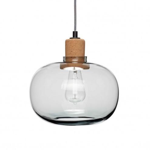 Hubsch hanglamp van glas en kurk, ø28cm