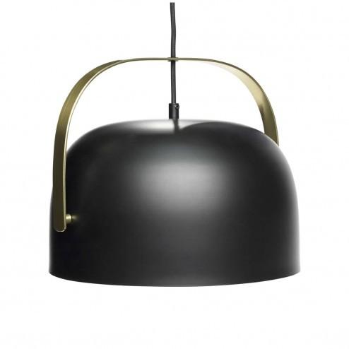 Hübsch Interior metalen hanglamp in zwart en messing, Ø30cm