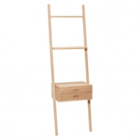 Hübsch eiken display ladder met ladekast, 180cm